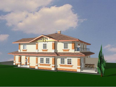 Family semi-detached house - services 3D design