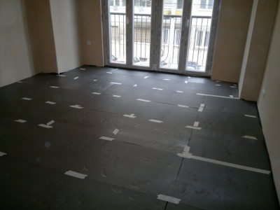 floor heating system preparation - stage 3.