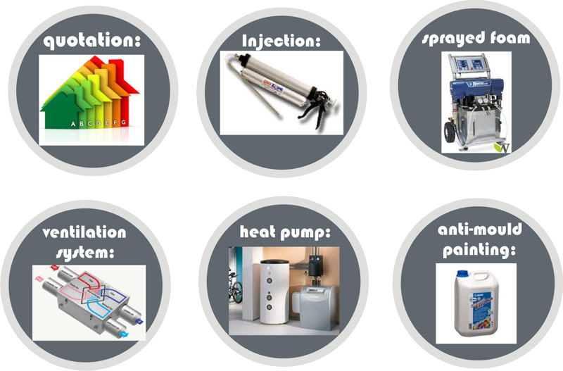 injection, insulation, pumps, etc logos