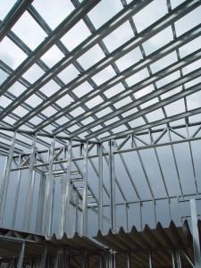 metal frame building structure