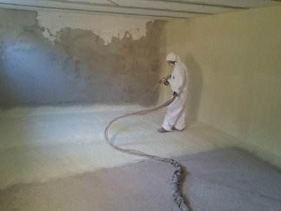 spray foam instalation