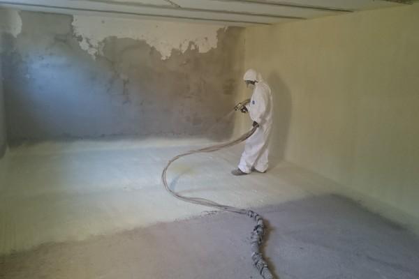 spray foam instalation