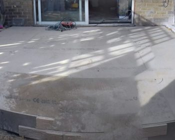 Conservatory - concrete base slab