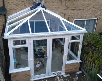 Conservatory - Nearly stucture done