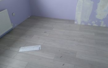 Finished laminate floor instalation