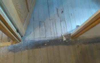 Demaged timber structure - before laminate flooring